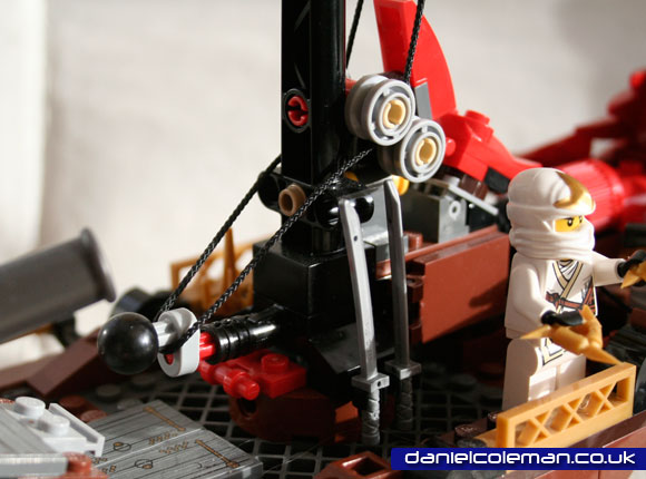 Ninjago Destiny's Bounty sail mechanism open position - April 2012