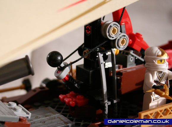 Ninjago Destiny's Bounty sail mechanism closed position - April 2012
