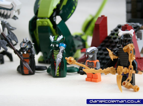 Ninjago Epic Dragon Battle | (l to r) Gen Skaldor, Gen Acidius, Chokun, Lord Garmadon (9450) - Dec 2012