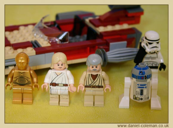 C-3PO; Luke Skywalker; Obi Wan; R2-D2; Sand Trooper (8092) - Dec 2010