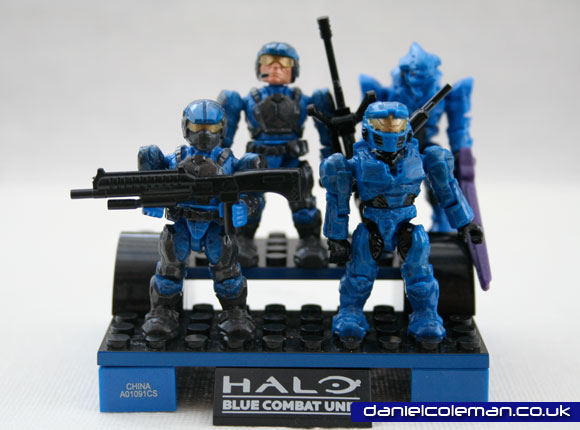 Blue Combat Unit | 2x UNSC Marines, 1x UNSC Spartan, 1 Covenant Elite