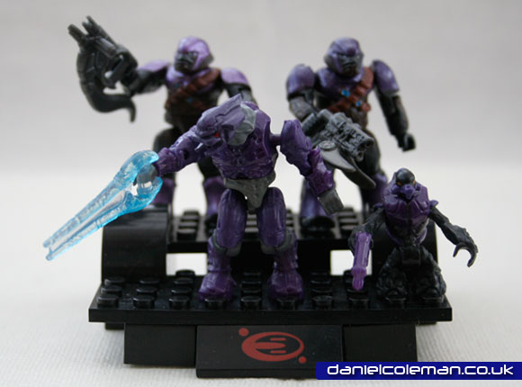 Purple Combat Unit | 1x Covenant Elite, 2x Covenant Brutes, 1x Covenant Grunt