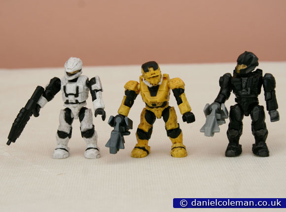 Hero Pack 7 | White Spartan Scout, Yellow EOD Spartan & Black CQB Spartan