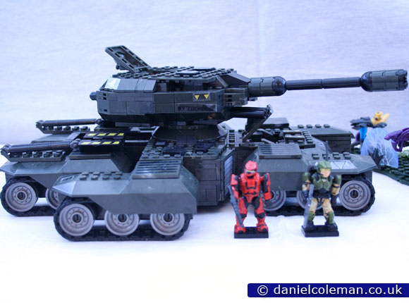 UNSC Rhino with Red Spartan Scout & Green Marine