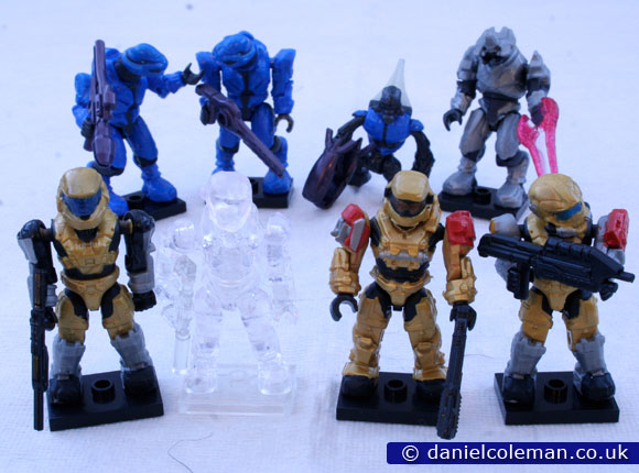 Ultimate Combat Pack | Gold Mark V Spartan, AC Spartan Air Assault, Gold Grenadier Spartan, Gold Spartan Hazop, 2x Blue Commandos, Blue Grunt, Silver Elite General