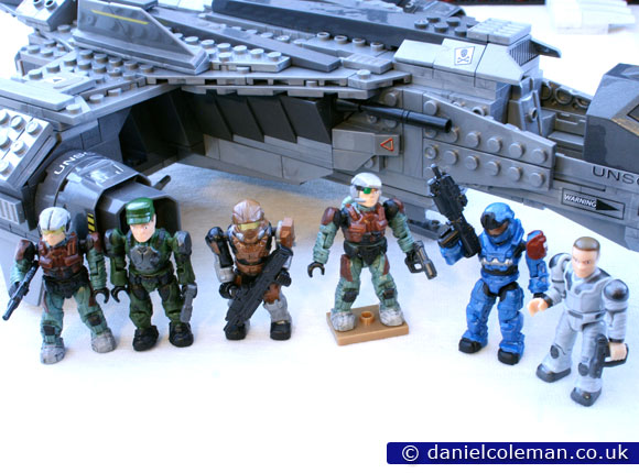Countdown | Marine, Green Marine Officer, Brown Spartan Hazop, Marine, Blue Spartan Grenadier & Technician
